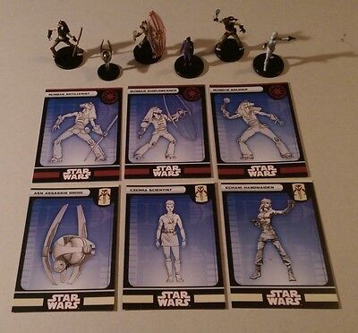 Star Wars Miniatures 2008 Knights of the Old Republic REPUBLIC & FRINGE FIGURES