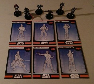 Star Wars Miniatures 2008 Knights of the Old Republic SITH FIGURES Set of 6