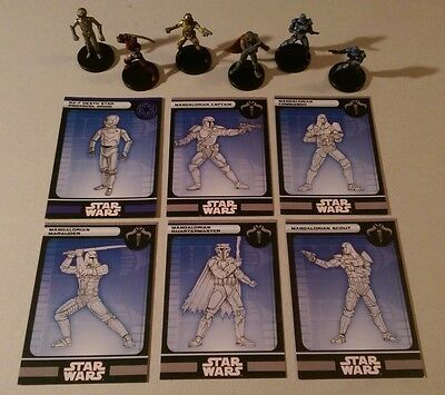 Star Wars Miniatures Knights of the Old Republic IMPERIAL & MANDALORIAN FIGURES