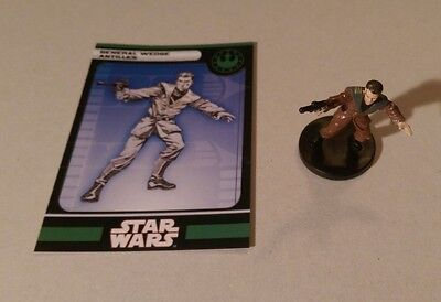 Star Wars Miniatures 2008 Knights of the Old Republic WEDGE ANTILLES 35/60 wCard