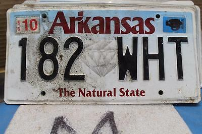 Expired 2010 Arkansas License Plate 182 Wht The Natural State Diamond