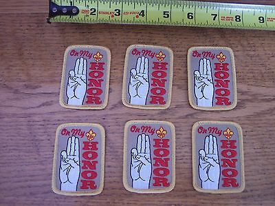 Boy Scout Lot of 6 ON MY HONOR Patches NEW MINT
