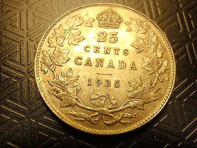 CANADA COIN 25 Cents 1935 VG/F