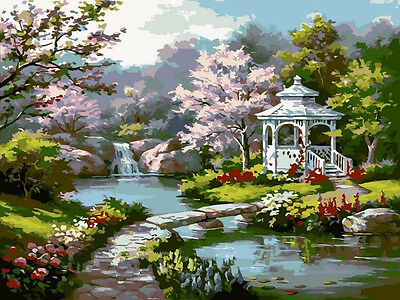 Paint By Numbers Kit Canvas 50*40cm 8185 Fantasy Gardens AU Stock Wall Art