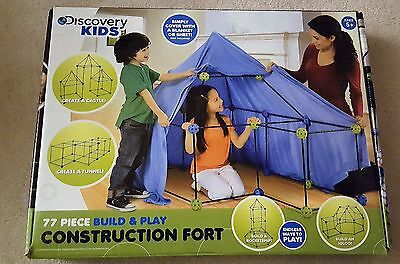 Discovery Kids 77-piece Build and Play Construction Fort Set - Complete