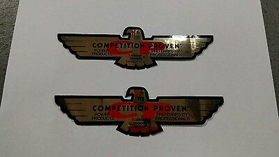 2 NOS 1960's HOLMAN MOODY COMPETITION PROVEN EAGLE DECAL STICKERS  FORD NASCAR