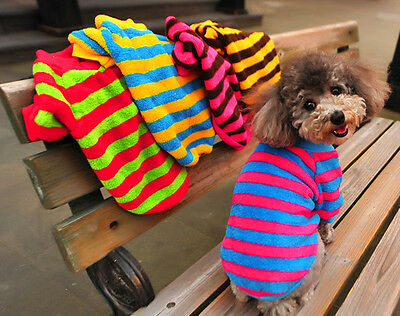 New Pet Puppy Dog Warm Jumper Knit Sweater Clothes Knitwear Coat Apparel Costume