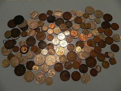 Great Heap Of Old Coins From Around The World