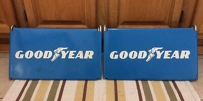 Goodyear Tires Tire Stand Sign Antique Gas Station Oil Advertising Vintage Pump