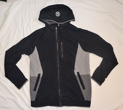 Lululemon Men Black Full Zip Hoodie Long Sleeve Jacket Size L