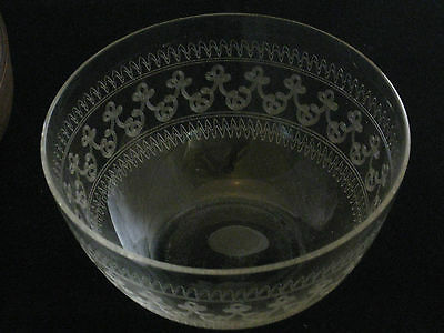 Bohemia Fine Glass Hand Carved Intricate Bowl