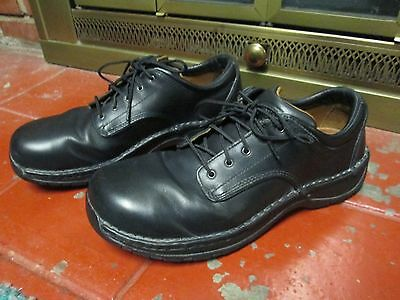Red Wing 6703 Work Safety Shoes, Aluminum Toe, Size 10,  B Width, Black Leather