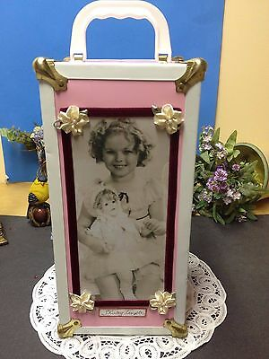 "Sweet Pink Vintage Doll Case / Trunk Only : For Ideal 12"" Shirley Temple Doll!"