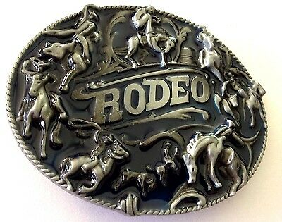 Metal Belt Buckle - Rodeo/country And Western/cowboy/cowgirl - Silver Tone -New