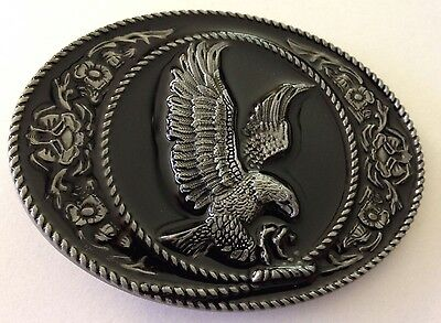 Metal Belt Buckle - Eagle/country And Western/cowboy/cowgirl - Silver Tone -New