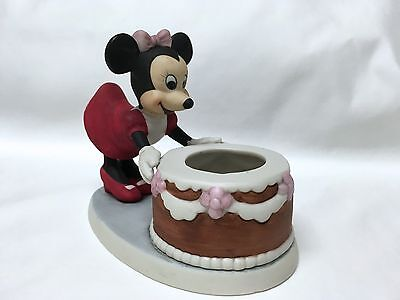 Vintage Disney Minnie Mouse Figurine Birthday Cake Candle Holder Made in Taiwan