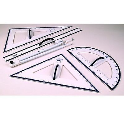 Art Drawing Kits Magnetic Measurement Set Triangle Straight Edge Protractor New