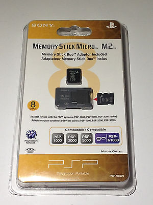 Sony (PSP) 8 GB Memory Stick Micro (M2) Card - Duo Adaptor Included *NEW*