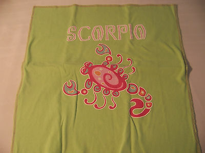 NWOT Pottery Barn Teen SCORPIO Graphic Tee Pillow Cover COTTON SHAM Bedding
