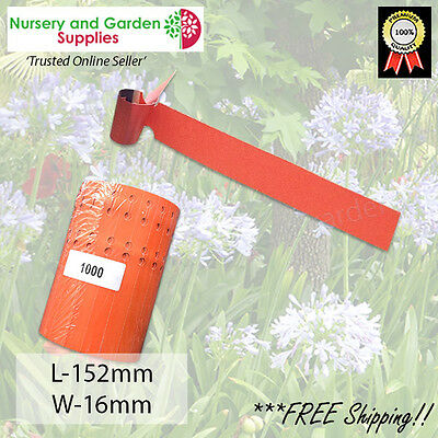 Orange Self-tie Loop Lock Plant Tags Vinyl Label