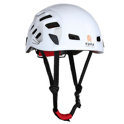 White Safety Rock Climbing Downhill Rescue Helmet Rappelling Protector Equipment