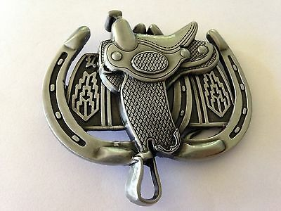 Metal Belt Buckle - Saddle/horse Shoe/cowboy/cowgirl/country & Western  - New