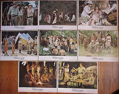 Trader Horn (1973) - USA Lobby Cards (full set of 8) / Rod Taylor, Anne Heywood