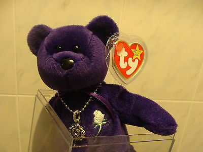 Ty Beanie Babies Princess Diana Pvc China With Necklace New