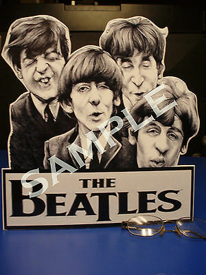 OH LOOK OUT! Display Standee The Beatles Remco Figures John,Paul,George Ringo