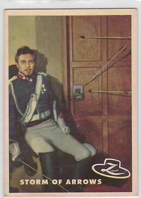 """Zoro Trading Cards #59 1958 """"storm Of Arrows""""."""