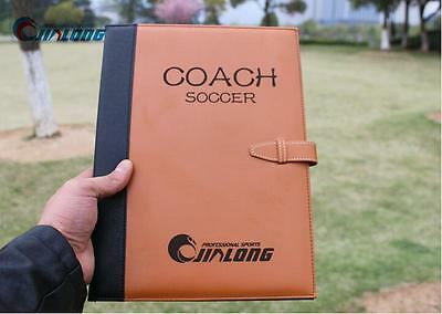 coaches folder  coach tactics book magnetic board and paper football soccer