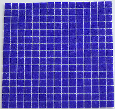 Swimming Pool tiles Glass  dark blue  per sq meter