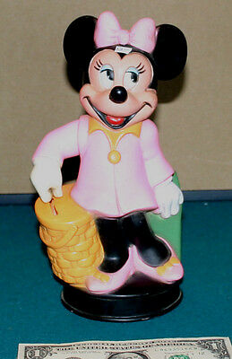 Minnie Mouse 1970s Stand up Bank with Coin Stopper