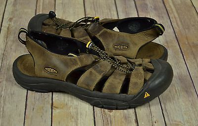 Mens KEEN Newport H2 Brown Leather Trail Sandals Size 13