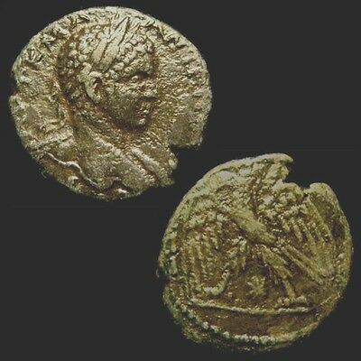 ELAGABALUS. 218-222. SYRIA. TETRADRACHM. Eagle left w open wings.
