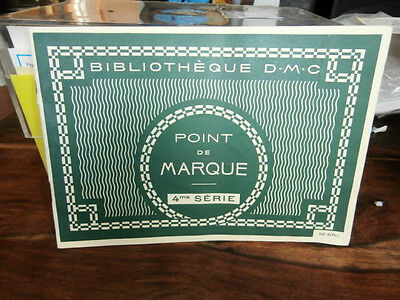 Vtg 1967 Bibliotheque DMC Point de Marque 4 series Counted Cross stitch charts