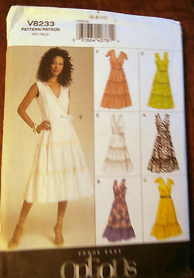 Oop Vogue Options 8233 womans summer ruffled dress size 6-10  NEW