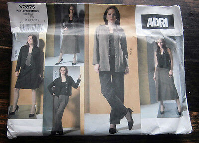 Oop Vogue Adri 2875 loose fitting jacket skirt pants tops sizes 18-22 NEW