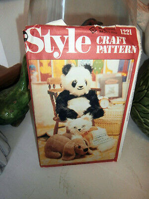 Oop Style 1221 Craft stuffed animal panda dog kitty 16 inches NEW