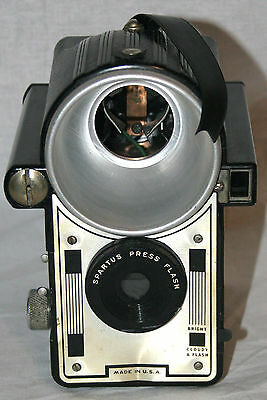 Vintage Antique Spartus Press Flash Box Style Camera Old photography