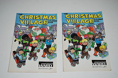2 The Christmas Village Coloring Book - Montgomery Ward - NICE!!!