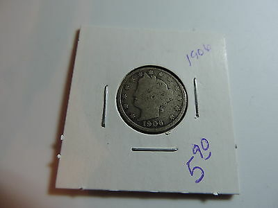 1906 US American Nickel coin A478
