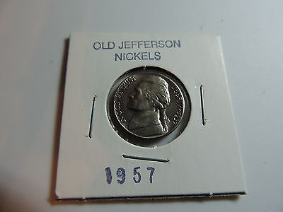 1957 US American Nickel coin A575