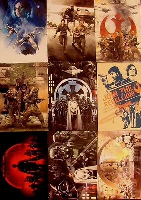 Topps Star Wars Rogue One Montage Insert Set 1-9