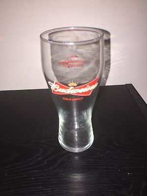 Budweiser Draught Tall Drinking Glass