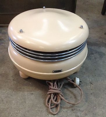 Vintage Art Deco Retro Bakelite Kasyaire Circular Heater On Three Feet Works