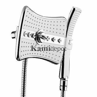 "8"" Square Contemporary Modern Home Bathroom Luxury Massage Rainfall Shower Style"