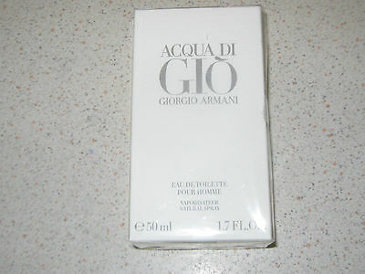 Acqua di gio GIORGIO ARMANI EDT 50ml/spray.100% GENUINE (BNIB)