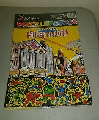 1983 marvel superheroes puzzleforms brand new with colorforms