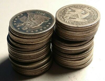 Roll of (40) Seated Liberty 90% Silver Quarters WOW! Ultimate Roll Hunter Dream